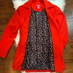Catherine's Red Trench Peacoat Long Jacket